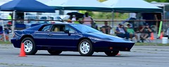 Lotus Esprit 2 (R.A. Killmer) Tags: auto old blue classic race lotus cone running tires 80s oil driver british autocross wedge esprit