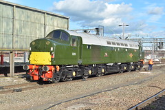 05-07-16 BR Green D213 - Crewe (Lukas66538) Tags: bridge blue green br class crewe 40 55 grosmont alycidon gresty d213 d9009 andania 0z56