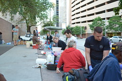 Feeding the hungry - Food not Bombs (elnina999) Tags: texas houston help hunger grateful foodnotbombs nutritious happyfaces foodforhomeless