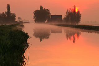 Sunrise @ Dutch polder