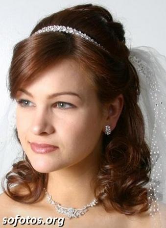 Penteado noiva com tiara de arquinho
