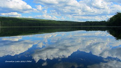 Canadice Lake / Finger Lakes NY (dgwyant) Tags: summer lake ny newyork water clouds reflections landscape lakes sunny fingerlakes 2012 canadicelake dgwyant