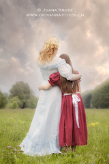 embrace (Ticino-Joana) Tags: girls two woman girl field female sisters vintage outside outdoors person back hugging women hug couple soft child dress adult sister daughter lawn mother meadow frombehind romantic frock gown embrace anonymous caucasian garment embracing