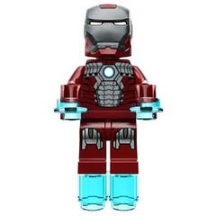 Iron Man Mark V Custom (Capta1nAm3rica) Tags: 2 3 man iron lego fig mark 5 render mini ironman v armor legos superhero minifig custom marvel suitcase superheros