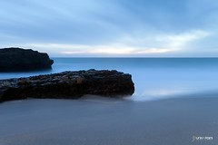 Beach (universini) Tags: california longexposure sunset sea santacruz seascape water rock canon highway1 slowshutter canon5d davenport pantherbeach