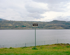 Pet Area (Isaac Sachs) Tags: oregon mediumformat washington columbiariver gorge restarea kodakportra400nc 110mm mamiyarz67proii