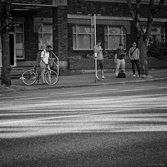 Canadians (Paul Perton) Tags: street city people urban blackandwhite bw vancouver square candid streetphotography cameraslenses