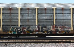 Necs/Jesse (quiet-silence) Tags: railroad art train jesse graffiti railcar dac graff freight nsf autorack fr8 4dc necs