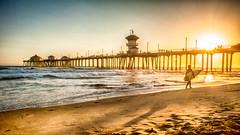 Huntington Beach, CA (meeksmai) Tags: california sunset beach sand surf huntingtonbeach hdr