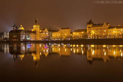 Prague in yellow (Miroslav Petrasko (blog.hdrshooter.net)) Tags: camera city travel color reflection water yellow digital canon lens effects photography eos photo blog high europe dynamic prague image foggy prag praha praga center software processing multiple 5d imaging dslr range vltava hdr hdri miroslav exposures bracketing 1635 photographyblog photoglog theodevil hdrshooter petrasko miroslavpetrasko hdrshooternet