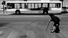 the crossing (tayl0439) Tags: road street old bw woman white black bus portugal cane lady photography movement crossing slow cross candid over lagos age spine algarve hunch hunched