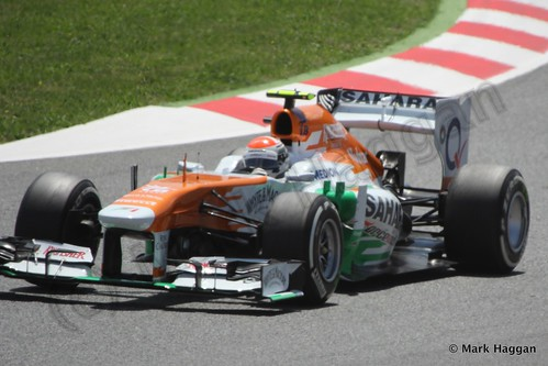 Adrian Sutil in the 2013 Spanish Grand Prix