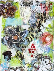 (Roben-Marie) Tags: flowers acrylic mixedmedia painted layered journaling artjournaling doodled robenmarie