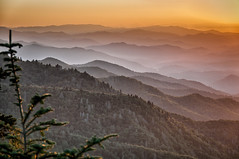Sunset at Waterrock Knob - Explored (Michael Kline) Tags: northcarolina september blueridgeparkway 2012 waterrockknob greatsmokiemountains