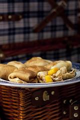 Stuffed... (MiamiRAW) Tags: blue white pancakes stuffed picnic basket plate crapes