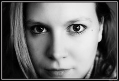 Marie-2 (Maestr!0_0!) Tags: portrait white black eye noir oeil blanc regard