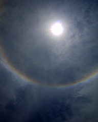 Sun Halo_02 (AbbyB.) Tags: blue sky sun rainbow halo