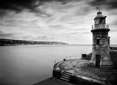 Black & Light *Explored* (Lindi m) Tags: longexposure lighthouse seascape pier blackwhite nikon folkestone nd110