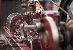 The Power of Steam - Steam Engine - Errol Airfield Tayside Scotland (Magdalen Green Photography) Tags: vintage scotland dof dundee f14 scottish pistons tayside steamrally 0776 vintagesteamrally stationaryengines coolred precisionengineering steamvehicles iaingordon thepowerofsteam magdalengreenphotography errolairfield scottishtractionenginesociety