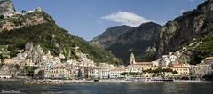 Amalfi (wallawalla_7) Tags: sea italy panorama house mountain church water montagne canon italia blu amalfi costiera
