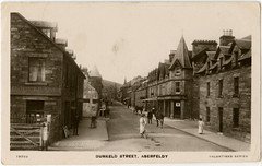 Dunkeld Street, Aberfeldy, late 19th century (P&KC Archive) Tags: building tourism fashion sport architecture scotland 19thcentury perthshire scene recreation roads royalty aberfeldy spectacle perthandkinross