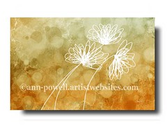 Three Flowers copyright Ann Powell (annpowellart) Tags: abstract flower floral modern abstractart contemporary modernart fineart wallart fi abstracts floralart flowerpainting abstractflower annpowell flowerwallart annpowellart