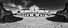 The beautiful castle Solitude in Stuttgart (Andi Mezger) Tags: sky orange white black berlin andy beer beautiful architecture dave germany landscape deutschland bavaria photography amazing nice nikon kitten solitude stuttgart nirvana sigma images andreas best tokina professional business most excellent buy getty architektur worst manual nikkor sell schloss better nofx impressive andi absolute gettyimages highest kant grohl d300 absolutearchitecture junip d90 mezger superlativ andreasmezger