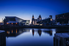 Blue Dock Night (Paul's Picx) Tags: museum liverpool dock mersey pierhead canning merseyside liverbuilding