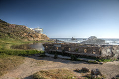 ruins of the baths (almostsummersky) Tags: sanfrancisco california abandoned stone concrete coast spring ruins rocks waves landsend sutrobaths westcoast foundations