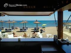 Wazza Beach Bar - Mijas Costa (NavarrOlivier - Estructuras de madera - Pergolas y) Tags: playa arena malaga chiringuito mijas beachbar wazza caseta veranosummer