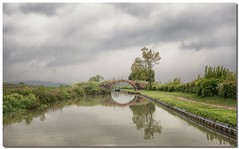 Chambers Bridge No 100 Grand Union Canal (Oxford Canal Section) (lovestruck.) Tags: uk bridge light summer england sky reflection water clouds dark grey canal sony bricks 100 oxfordshire oxfordcanal narrowboats zk 2013 rx100 challengeyouwinner dscsonyrx100