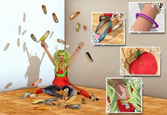 My Pretty flat Shoes!!  ({ .::Gala Fashion Design::. }) Tags: female shoes mesh avatar boom watermelon sl secondlife cloths bcc jewel mmorpg accessory metaverse gfd