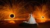 Glowing Bride to Be (Rodney Campbell) Tags: ocean lightpainting beach water bride model australia newsouthwales steelwool forresters forrestersbeach