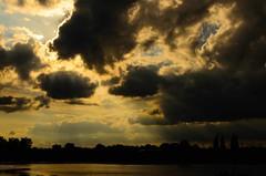 DSC_8620 (Julian R Rouse) Tags: sky cloud sun lake reflection nature water weather solstice naturereserve worcestershire sunbeam droitwich uptonwarren nikond7000 julianrouse