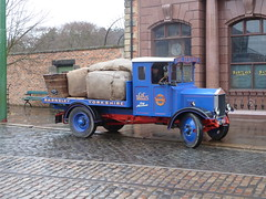 Taking Cotton to the Bank (Terry Pinnegar Photography (2.5 million views!)) Tags: museum truck bank beamish lorry cobbles albion barclays barnsley flatbed countydurham lb40 we3735 cctextiles