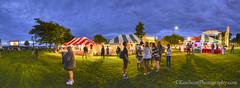 Traverse City Film Festival ... snacks too! (Ken Scott) Tags: sunset spring twilight michigan may lakemichigan greatlakes openspace hdr freshwater westbay grandtraversebay traversecityfilmfestival 45thparallel outdoortheater usa2013 snacktents