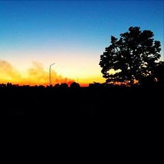 La giornata fuma via. (~ClauDio~) Tags: blue sunset shadow sky orange black tree square tramonto blu smoke hill saturday ombre cielo squareformat albero nero arancione fumo crepuscolo sabato contrasto colle sagoma iphoneography instagramapp uploaded:by=instagram