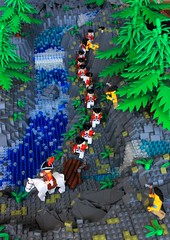 Its an ambush! (peggyjdb) Tags: english river lego indian united states redcoats ambush britishcolony sevenyearwar