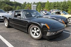 A factory 1970 Porsche 914-6 (Thumpr455) Tags: auto black car nikon automobile july german porsche 32 fuchs pca sportscar targa d800 914 9146 ashevillenc 2013 carscoffee porscheclubofamerica worldcars mountainregion afnikkor1635mmf4vr