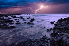 Atlantic Seastorm (S.T.A.R.S) Tags: strand meer wasser himmel wolken blitz kste felsen atlantik sturm brandung ozean