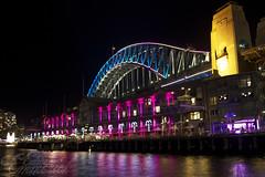 City Lights || Vivid (edwinemmerick) Tags: ocean longexposure sea water canon eos jetty sydney vivid australia le shore nsw 7d slowshutter edwin sydneyharbourbridge colouredlights emmerick vividfestival edwinemmerick