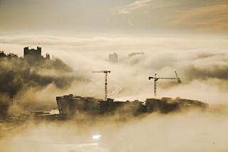 Foggy Winter Day - Sørenga, Oslo, Norway
