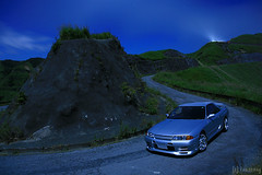 the road of laputa (tomosang R32m) Tags: road longexposure japan skyline night nissan moonlight aso kumamoto laputa r32 熊本 スカイライン 阿蘇 日産 星景 worldcars theroadtoheaven ラピュタの道 月光浴 天空の道 theroadoflaputa