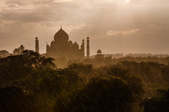 India - Taj Mahal in the rains