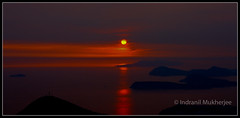 Mysterious Sunset over Adriatic Sea ! (Indranil.m) Tags: travel sunset summer wallpaper vacation nature water beautiful beauty canon photography evening amazing nice interesting colorful view top september mysterious 1855 dubrovnik mystic indranil 2012 mukherjee croa indro blinkagain