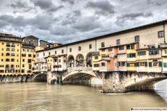 The Ponte Vecchio (Florence) (Marc G.C.) Tags: old travel bridge italy monument water stone architecture river landscape florence italian ancient europe cityscape arch landmark medieval tuscany firenze arno pontevecchio yourism