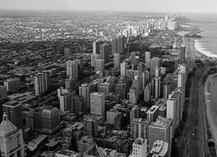 (GXM.) Tags: urban bw chicago aerial lakemichigan northside gxm