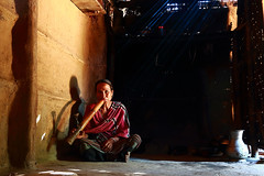 Tales Of Life III (abm R A I H A N) Tags: life blue red portrait woman canon eos lights asia ray style smoking human tribe hobigonj bangladesh efs abm raihan 70d 2013 1585mm mygearandme abmraihan