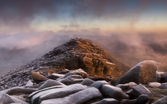 The Awakening - Dawn breaks on Moel Siabod's North East Ridge (Nick Livesey Mountain Images) Tags: