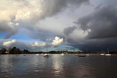 Orage (rogermarcel) Tags: clouds sunrise river landscape boat thunderstorm nuages paysage orage waterscape mygearandme mygearandmepremium rogermarcel